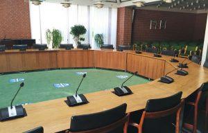 Byrådsal i Vallensbæk Kommune