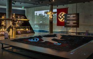 Projektion over nazisternes skibe i norske fjorde