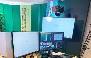 Studie med lys og mobilt streaming setup