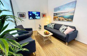 CIPEX Lounge med skærm